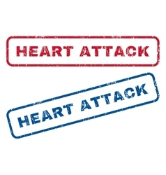 Heart Attack Rubber Stamps vector image