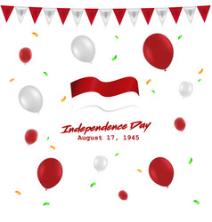 independence day 17 august indonesia with red vector 27952904