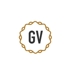 initial letter gv elegance creative logo vector image