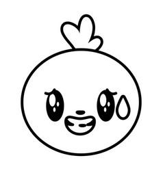 Kawaii face bubble cartoon vector