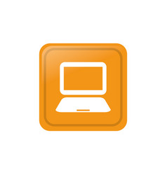 Laptop computer technology vector