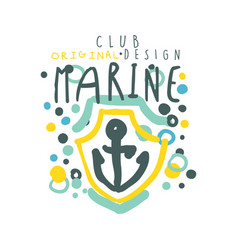 marine club logo design summer travel and sport vector image