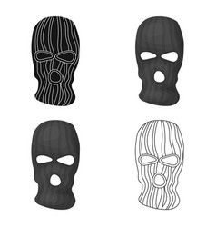 Mask to close the face of the offender from vector