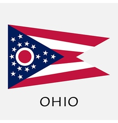 Ohio state flag of America isolated on white vector
