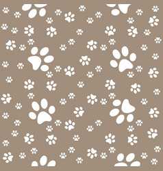 paws brown pattern paw background vector image