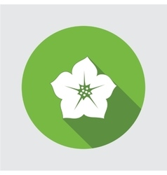 Petunia flower icons Floral symbol Round circle vector