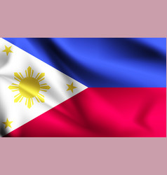 Philippines flag blowing in wind part vector