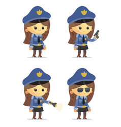 police girls vector image