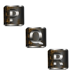 pqr iron letters vector image