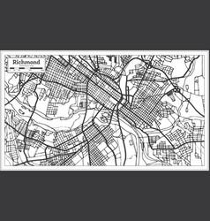 Richmond virginia usa city map in retro style vector
