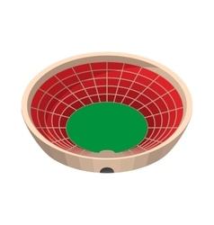 Round sports stadium cartoon icon vector