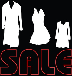 sale with clothes sign vector image vector image