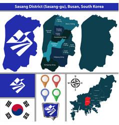 sasang district busan city south korea vector image