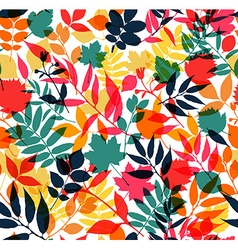 Seamless pattern of autumn vector image
