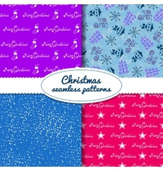 Simple Christmas seamless paterns vector