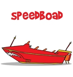 Speedboat of art vector