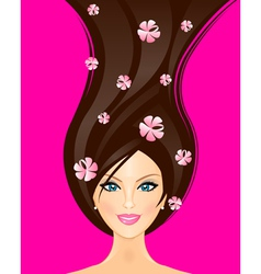 spring woman vector image