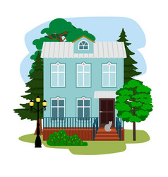 summer housing for vacation vector image