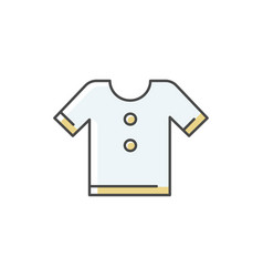 t shirt rgb color icon vector image