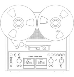 Tape recorder vector