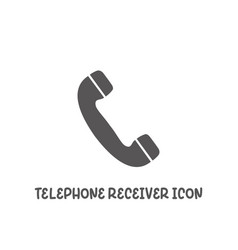 telephone receiver icon simple flat style vector image