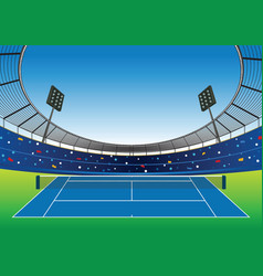 Tennis court stadium vector