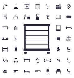 Towel rail icon vector