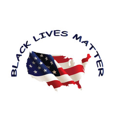 united states america black lives matter vector image