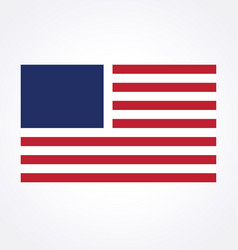 usa flag simplified vector image