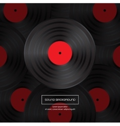 Vinyl record for your design vector image