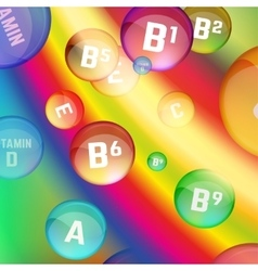 Vitamins Rainbow vector image