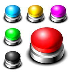 Big button set vector image