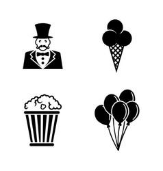 Circus carnival amusement park simple related vector