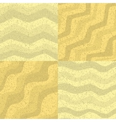Set of seamless sand texture vector image