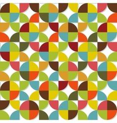Colorful geometric seamless set vector image