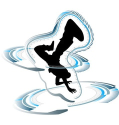 funky breakdancer vector image vector image