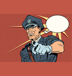 vintage police officer cop arrests vector image