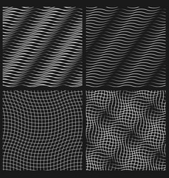 abstract set of wavy seamless pattern vector image vector image