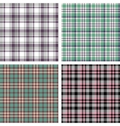 Collection of seamless plaid patterns vector image