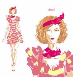 fashion beauty vector image