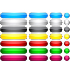 Glossy blank buttons vector image