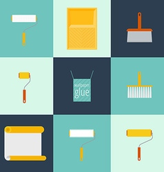 Home repair flat icons vector image