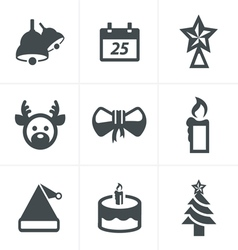 Icons set Christmas Design vector image vector image