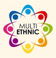 multiethnic diversity vector image vector image