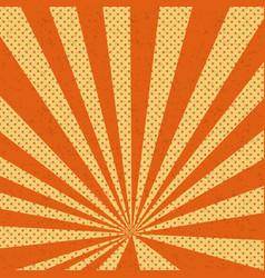 old paper comic book orange background vector image vector image