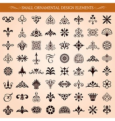Small Ornamental Design Elements vector image vector image