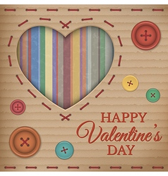 Valentines Day cardboard card vector image vector image
