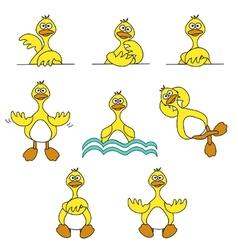 cartoon ducks vector image vector image
