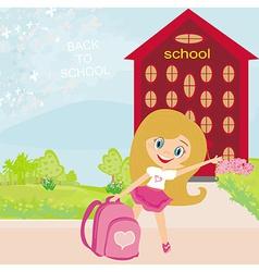 girl going to school vector image vector image