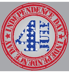 Happy independence Day the 4th july vector image